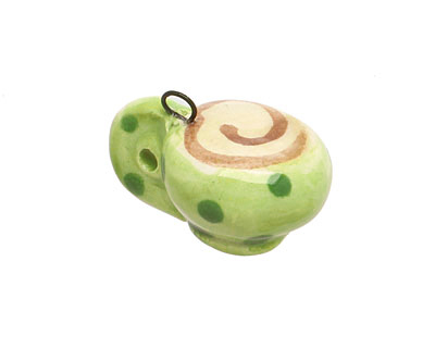 Jangles Ceramic Green Coffee Cup Charm 17-18x15-17mm