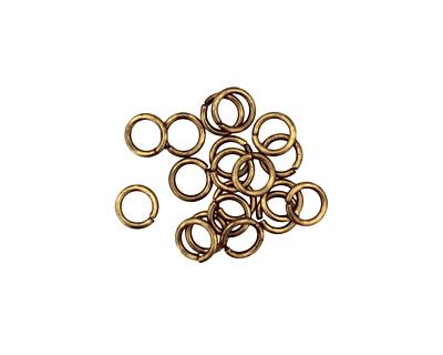 Antique Brass (plated) Round Jump Ring 4mm, 21 gauge