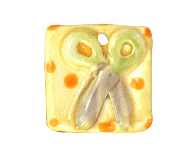 Jangles Ceramic Scissors Pendant 27mm
