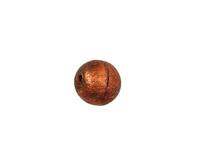 Missficklemedia Patinated Chestnut Satin Brushed Round 10mm