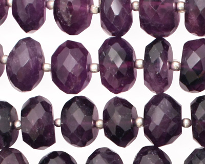 Amethyst Faceted Rondelle 7-10x10-13mm