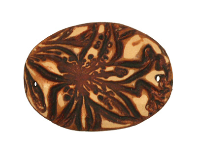 Humble Beads Polymer Clay Rust Tiger Lily Link 35x25mm