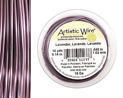 Artistic Wire Lavender 18 gauge, 10 yards