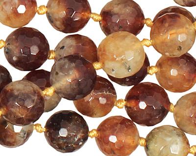 Honey Tourmalinated Quartz Faceted Round 12mm
