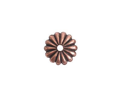 Nunn Design Antique Copper (plated) Petal Bead Cap 2x12mm