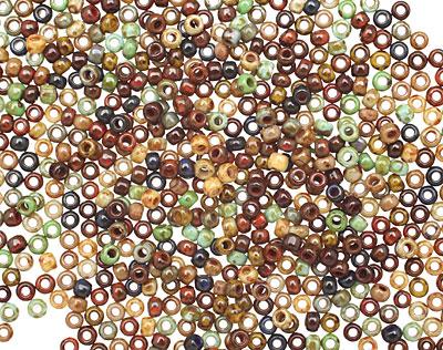 TOHO Opaque Picasso Mix II Hybrid Round 11/0 Seed Bead
