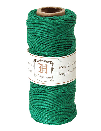 Green Hemp Twine 20 lb, 205 ft