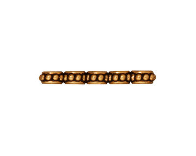 TierraCast Antique Gold (plated) Beaded 5-Hole Bar 3x26mm