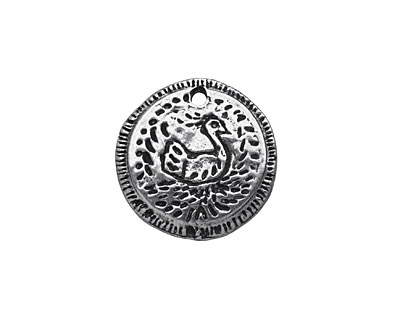 Mamacita Beadworks Pewter My Love is Thine Charm 19mm