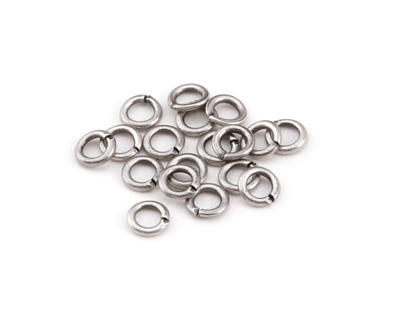 Antique Silver (plated) Round Jump Ring 4mm, 20 gauge