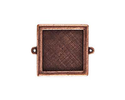 Nunn Design Antique Copper (plated) Framed Small Square Pendant Link 37x30mm