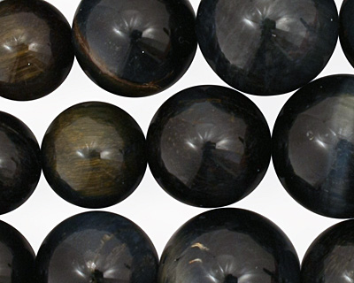 Blue Tiger Eye Round Graduated 4-16mm