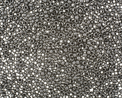 TOHO Matte Opaque Gray Round 15/0 Seed Bead