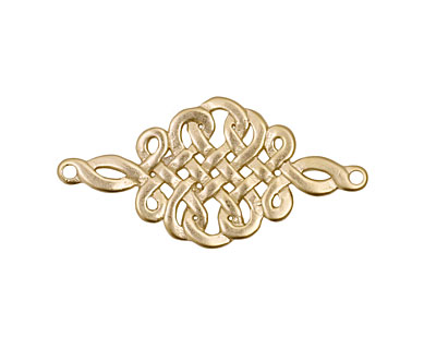 Ezel Findings Gold (plated) Celtic Knot Link 32x16mm