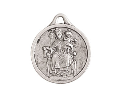 Nunn Design Antique Silver (plated) Reconciler Medallion 18x22mm
