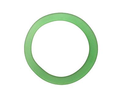 Green Soda (Sea Glass Finish) Glass Bottle Ring 60-70mm