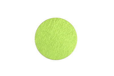 Lillypilly Lime Green Anodized Aluminum Disc 19mm, 24 gauge
