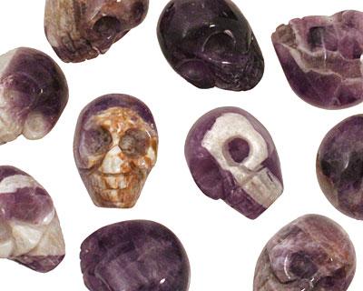 Dogtooth Amethyst Skull 20x15mm