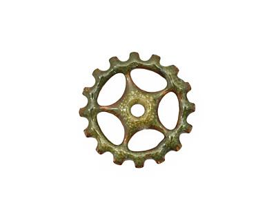 C-Koop Enameled Metal Olive Sectioned Gear 19mm