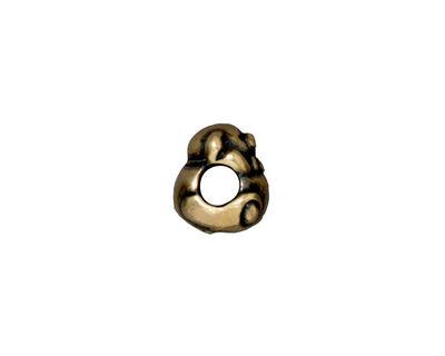 TierraCast Antique Brass (plated) Bear Euro 9x12mm