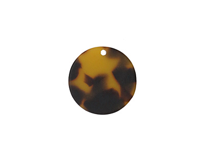 Zola Elements Tortoise Shell Matte Acetate Coin Charm 20mm
