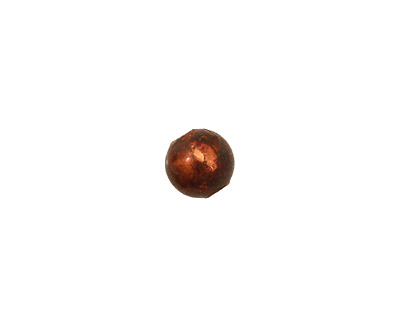 Missficklemedia Patinated Chestnut Smooth Round 8mm