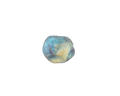 Xaz Raku Rust Blue Small Nugget 10-13mm
