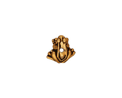 TierraCast Antique Gold (plated) Frog 7x10mm