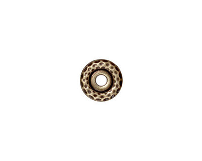 TierraCast Antique Brass (plated) Large Hole Hammered Heishi 2x9mm