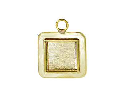 Brass Lipped Square Bezel 19mm