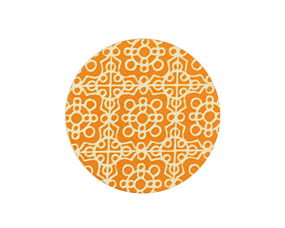 Lillypilly Orange Baroque Anodized Aluminum Disc 25mm, 24 gauge