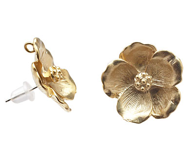 Ezel Findings Gold (plated) Pansy Earring 19mm