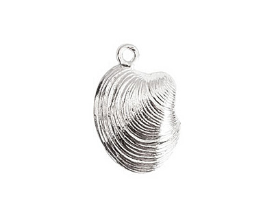 Nunn Design Sterling Silver (plated) Clam Charm 15x22mm