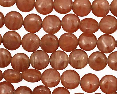 Brown Rhodochrosite Puff Coin 8mm