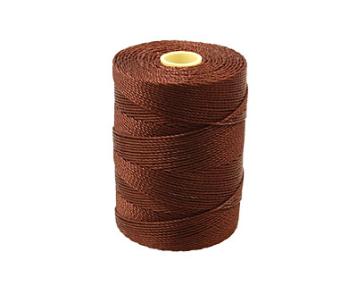 C-Lon Brown Fine Weight (.4mm) Bead Cord