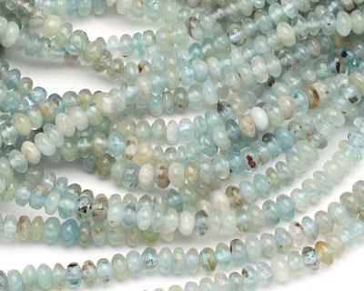 Aquamarine (multi-color) rondelle 5-6mm