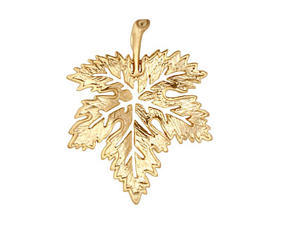 Ezel Findings Gold (plated) Fancy Maple Leaf Link 28x23mm