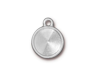 TierraCast Rhodium (plated) Faceted Drop 15x19mm