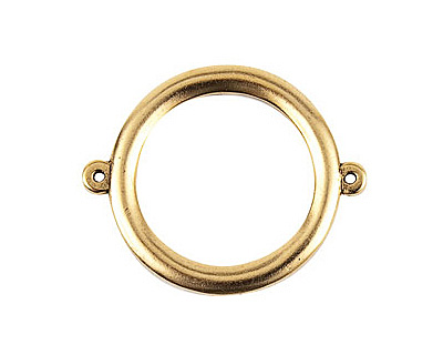 Nunn Design Antique Gold (plated) Grande Circle Connector 37x30mm
