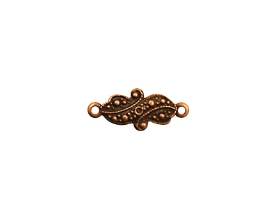 Stampt Antique Copper (plated) Ribbon Connector 12x7mm