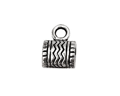 Pewter Zigzag Bail (Large Hole) 9x12mm