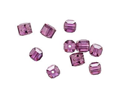 Violet Faceted Cube 4mm