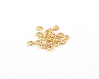 Gold (plated) Soldered Jump Ring 4mm, 18 gauge