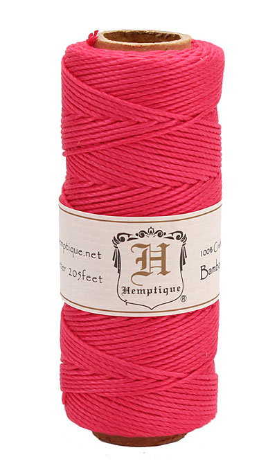 Neon Pink Bamboo Cord 20 lb, 205 ft