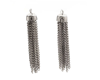 Antique Silver (plated) Chain Tassel 8x48-50mm