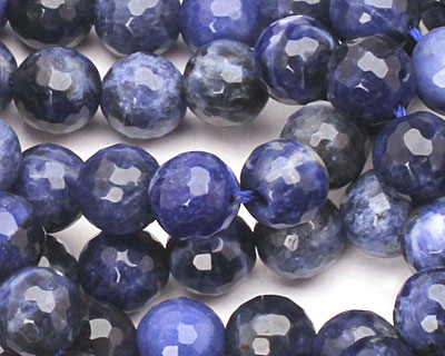 Sodalite Faceted Round 8mm