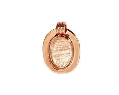 Copper Lipped Oval Bezel 15x20mm