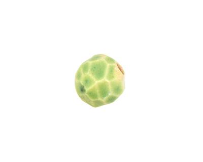 Gaea Ceramic Spring Green Geode Round 15-17x18-19mm