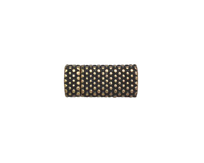 Antique Brass (plated) Dot Magnetic Clasp 17x7mm
