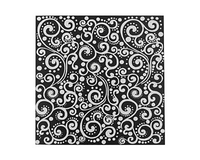Lillypilly Black Scrolling Vine Anodized Aluminum Sheet 3